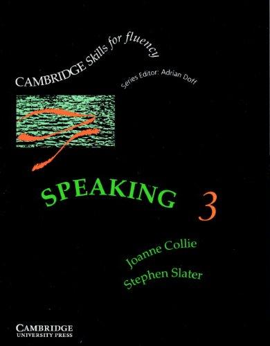 9780521399708: Speaking 3 Student's book: Upper-intermediate (Cambridge Skills for Fluency)