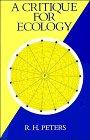 9780521400176: A Critique for Ecology