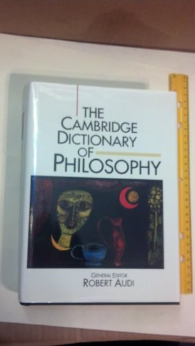 9780521402248: The Cambridge Dictionary of Philosophy