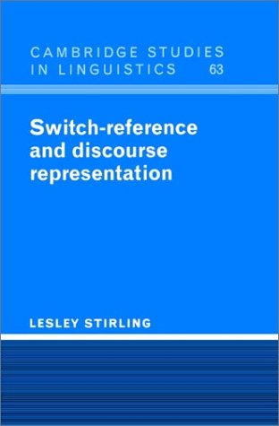 9780521402293: Switch-Reference and Discourse Representation (Cambridge Studies in Linguistics)