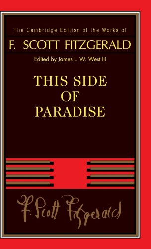 9780521402347: This Side of Paradise (The Cambridge Edition of the Works of F. Scott Fitzgerald)