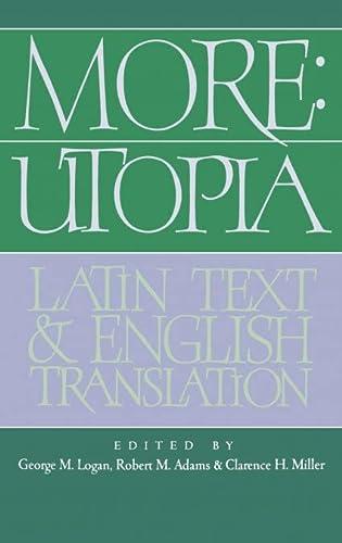 9780521403184: More: Utopia: Latin Text and English Translation