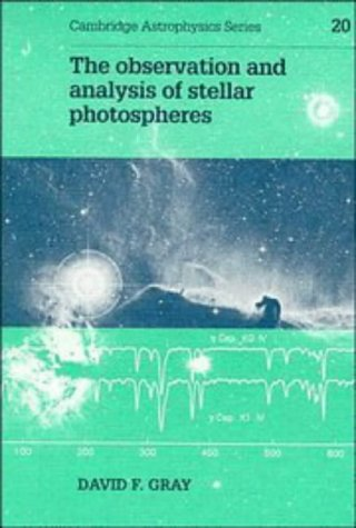 9780521403207: The Observation and Analysis of Stellar Photospheres (Cambridge Astrophysics)