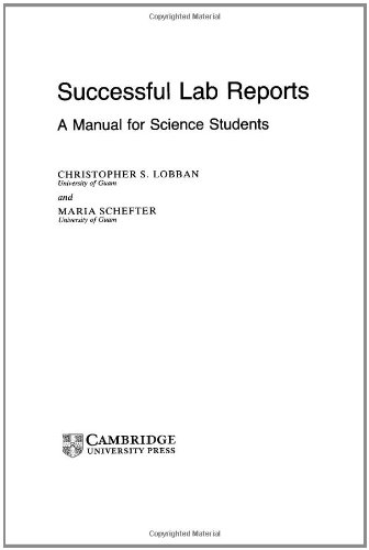 9780521404044: Successful Lab Reports: A Manual for Science Students