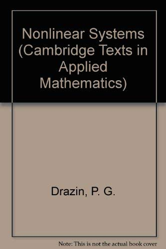 9780521404891: Nonlinear Systems (Cambridge Texts in Applied Mathematics)