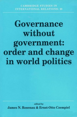 9780521405317: Governance without Government: Order and Change in World Politics (Cambridge Studies in International Relations)