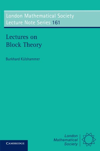 9780521405652: Lectures on Block Theory (London Mathematical Society Lecture Note Series)