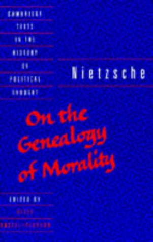9780521406109: Nietzsche: 'On the Genealogy of Morality' (Cambridge Texts in the History of Political Thought)