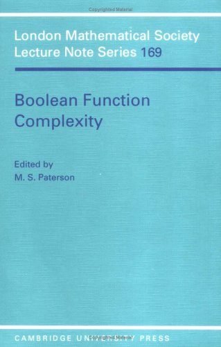 9780521408264: Boolean Function Complexity (London Mathematical Society Lecture Note Series)