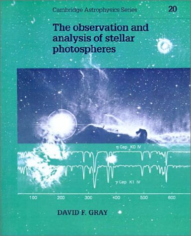 9780521408684: The Observation and Analysis of Stellar Photospheres (Cambridge Astrophysics)