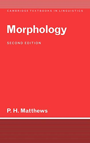 9780521410434: Morphology (Cambridge Textbooks in Linguistics)