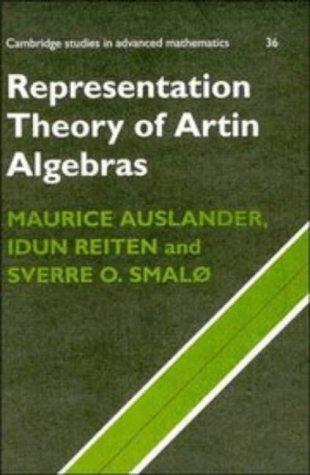 9780521411349: Representation Theory of Artin Algebras (Cambridge Studies in Advanced Mathematics)