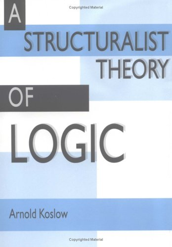 9780521412674: A Structuralist Theory of Logic