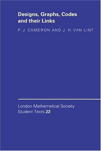 9780521413251: Designs, Graphs, Codes and their Links (London Mathematical Society Student Texts)