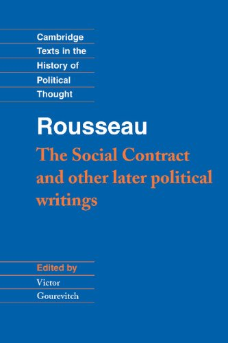 "9780521413824: Rousseau: 'The Social Contract' and Other Later Political Writings Hardback: ""Social Contract"" and Other Later Political Writings Vol 2 (Cambridge Texts in the History of Political Thought)"