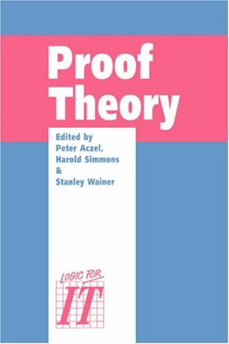 9780521414135: Proof Theory: A selection of papers from the Leeds Proof Theory Programme 1990