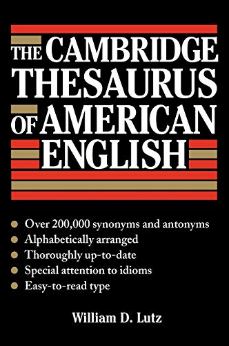 9780521414272: The Cambridge Thesaurus of American English