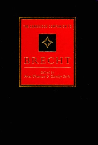 9780521414463: The Cambridge Companion to Brecht (Cambridge Companions to Literature)