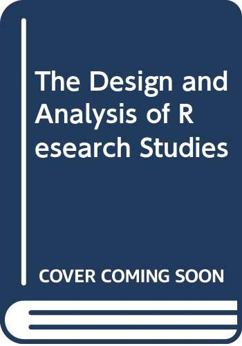 9780521414531: The Design and Analysis of Research Studies