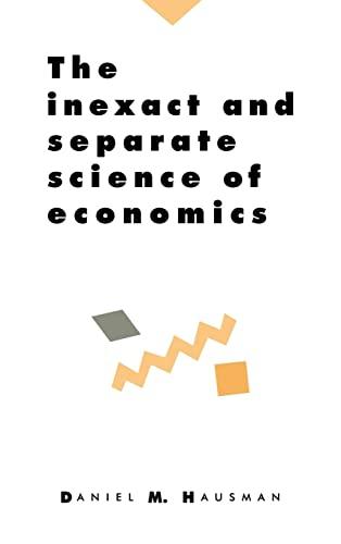 9780521415019: The Inexact and Separate Science of Economics Hardback