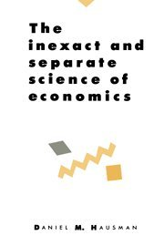 9780521415019: The Inexact and Separate Science of Economics