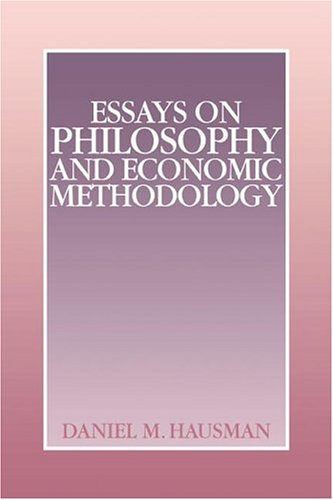 9780521417402: Essays on Philosophy and Economic Methodology Hardback