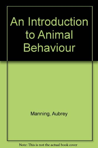 9780521417594: An Introduction to Animal Behaviour