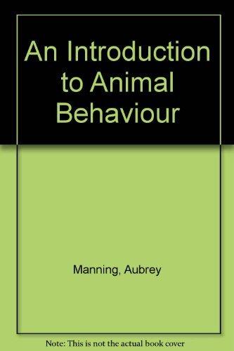 9780521417594: An Introduction to Animal Behaviour