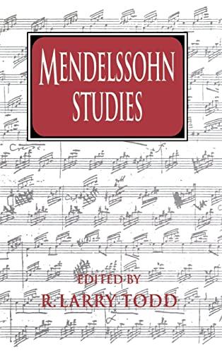 Mendelssohn Studies (Cambridge Composer Studies)