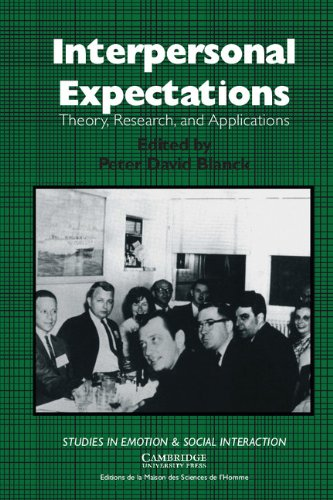 9780521417839: Interpersonal Expectations: Theory, Research and Applications (Studies in Emotion and Social Interaction)