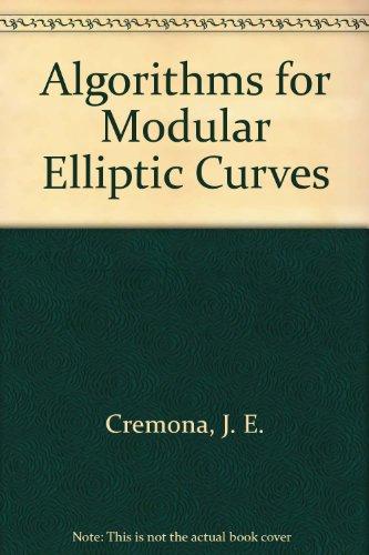 9780521418133: Algorithms for Modular Elliptic Curves