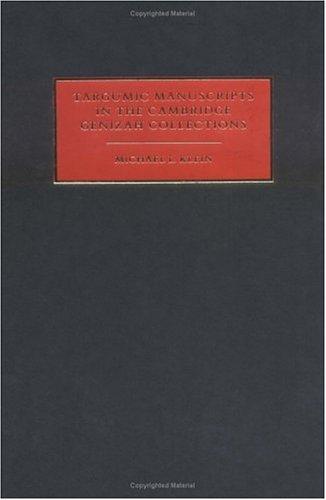 9780521420761: Targumic Manuscripts in the Cambridge Genizah Collections (Cambridge University Library Genizah Series)