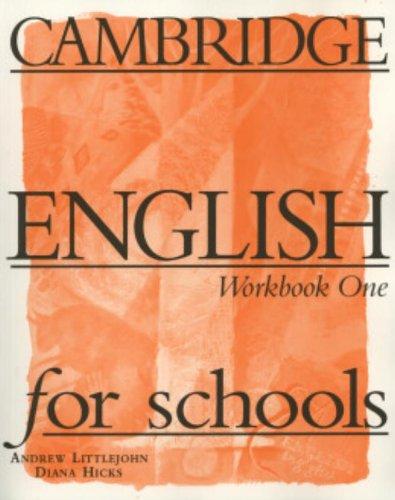 9780521421737: CAMBRIDGE ENGLISH FOR SCHOOLS 1 WORKBOOK