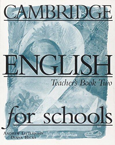 9780521421782: Cambridge English for Schools 2 Teacher's book