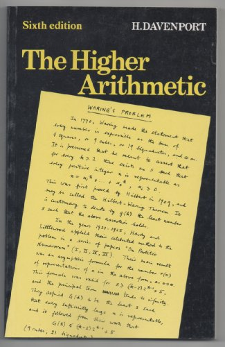 9780521422277: The Higher Arithmetic: An Introduction to the Theory of Numbers