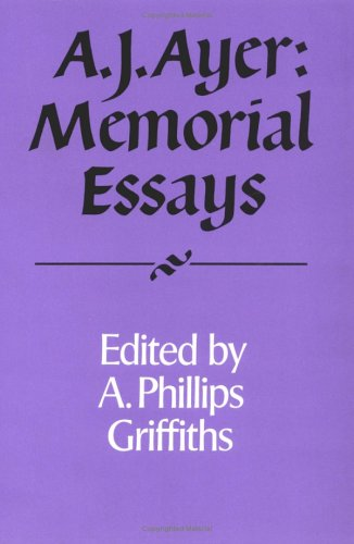 9780521422468: A. J. Ayer: Memorial Essays (Royal Institute of Philosophy Supplements)