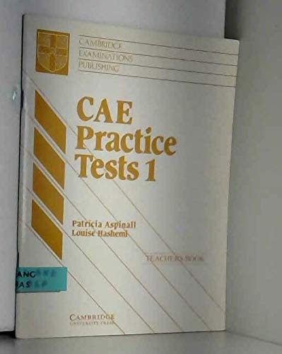 9780521422741: CAE Practice Tests 1 Teacher's book: Level 1