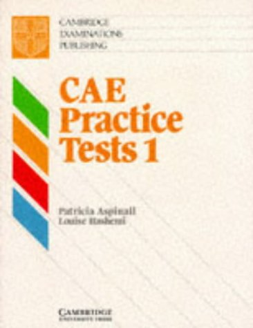 9780521422765: CAE Practice Tests 1 Student's book