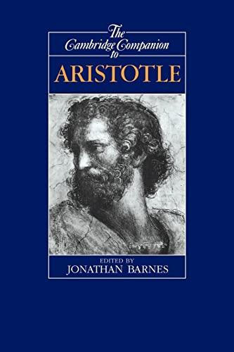 9780521422949: The Cambridge Companion to Aristotle Paperback (Cambridge Companions to Philosophy)
