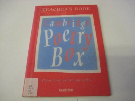 The Cambridge Poetry Box Teacher's book (0521423112) by Helen Cook; Morag Styles
