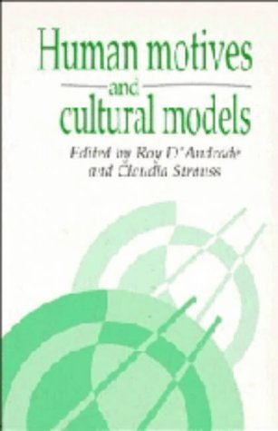 9780521423380: Human Motives and Cultural Models (Publications of the Society for Psychological Anthropology)
