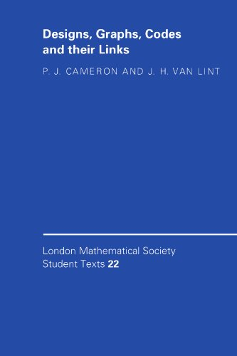 9780521423854: Designs, Graphs, Codes and their Links (London Mathematical Society Student Texts)