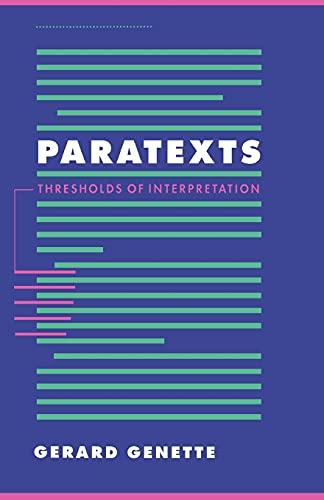 Paratexts: Genette, Gerard