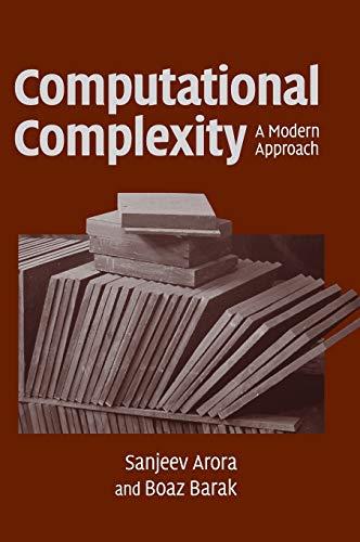 9780521424264: Computational Complexity Hardback: A Modern Approach