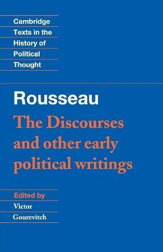 9780521424455: Rousseau: 'The Discourses' and Other Early Political Writings Paperback: v. 1 (Cambridge Texts in the History of Political Thought)