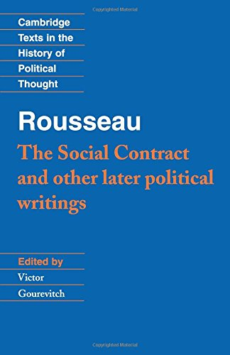 9780521424462: Rousseau: 'The Social Contract' and Other Later Political Writings Paperback: