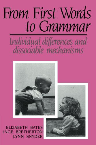 9780521425001: From First Words to Grammar: Individual Differences and Dissociable Mechanisms