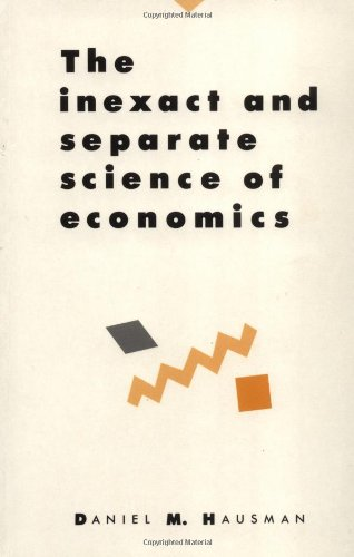 9780521425230: The Inexact and Separate Science of Economics Paperback