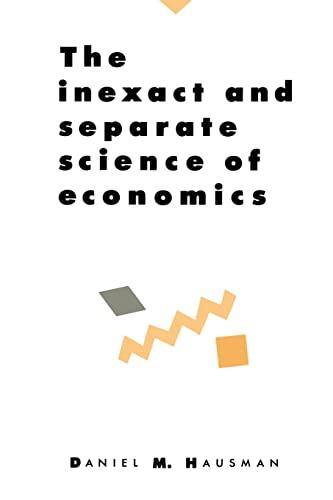 9780521425230: Inexact Separate Science Economics