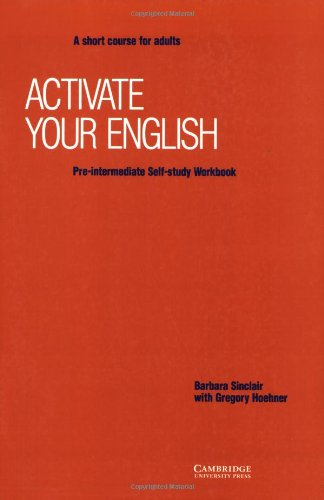 9780521425698: Activate your English Pre-intermediate Self-study workbook: A Short Course for Adults